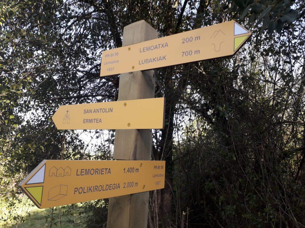 señalizacion de rutas y senderos en bizkaia araba gipuzkoa cantabria la rioja soria navarra folleto de orednes empresa de señalizacion de rutas